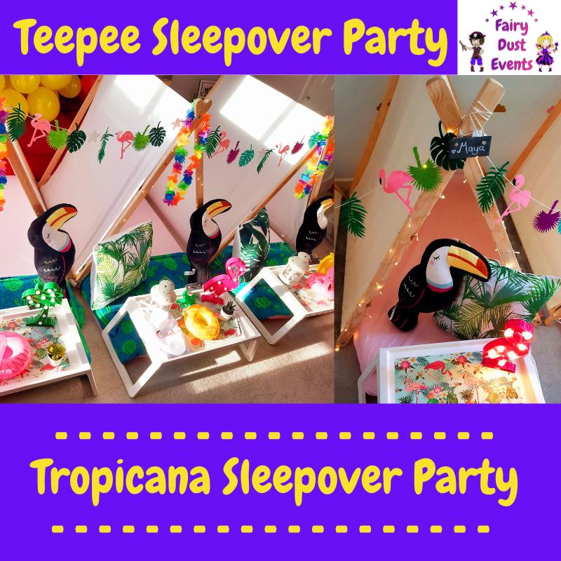 tropical-sleepover-teepee-party