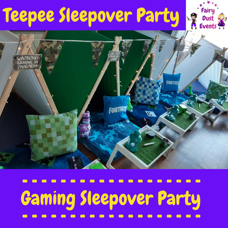 fortnight-gaming-sleepover-teepee-party
