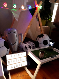 football-tipi-sleepover-party