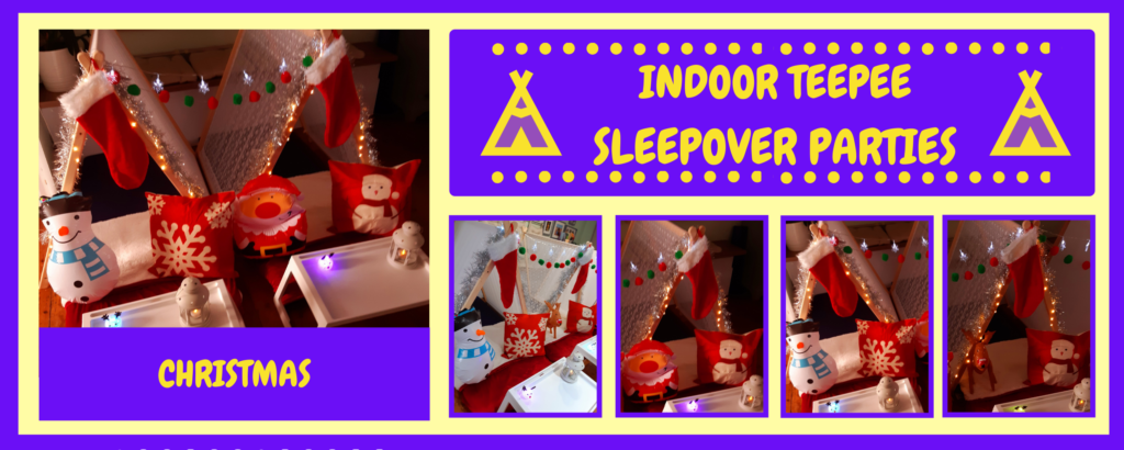 christmas sleepover tents for hire